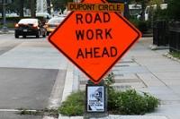 sign - road work ahead