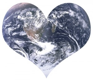 heart-shaped Earth