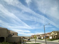 chemtrails over house