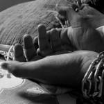 'Prisoner with chain around hands' flickrcc.net