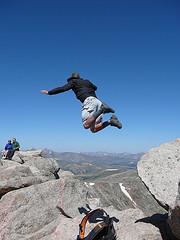 'Jumping Off Mt. Evans' flickrcc.net