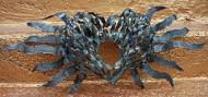 'blue heart sculpture-metal heart&wings' flickrcc.net